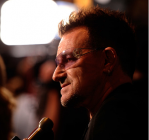 Bono, lead singer of U2